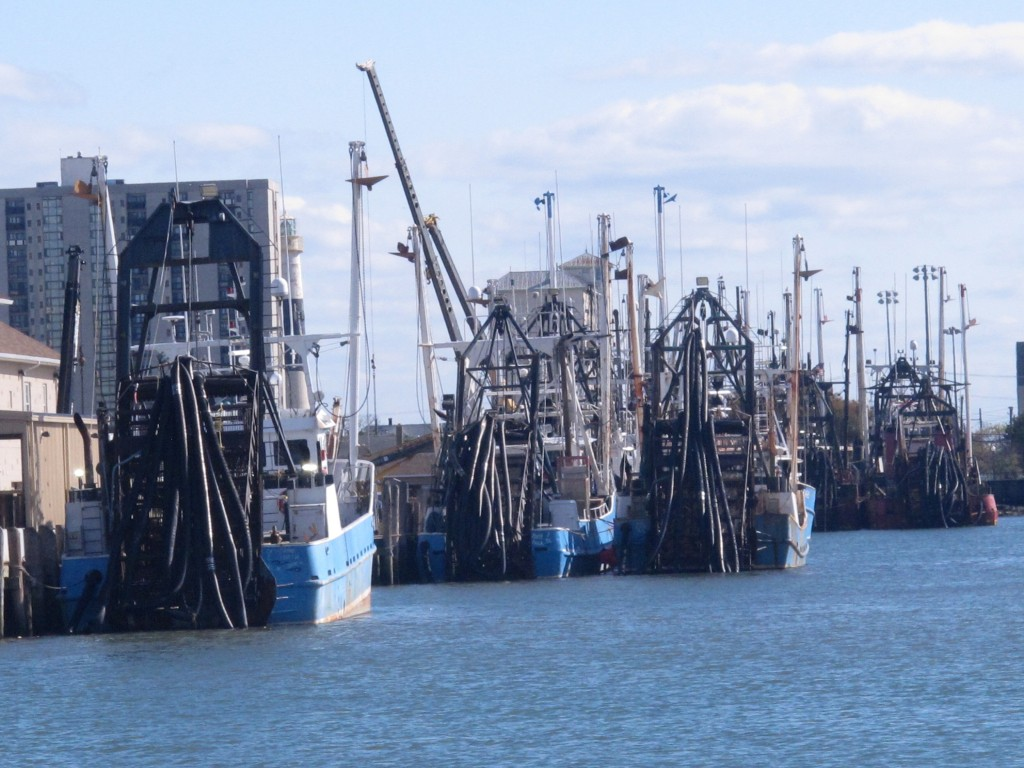This Oct. 18, 2019 photo shows commercial fishing boats docked in Atlantic City, N.J. On Oct. 22, 2019, a conference at Monmouth University in West Lo...