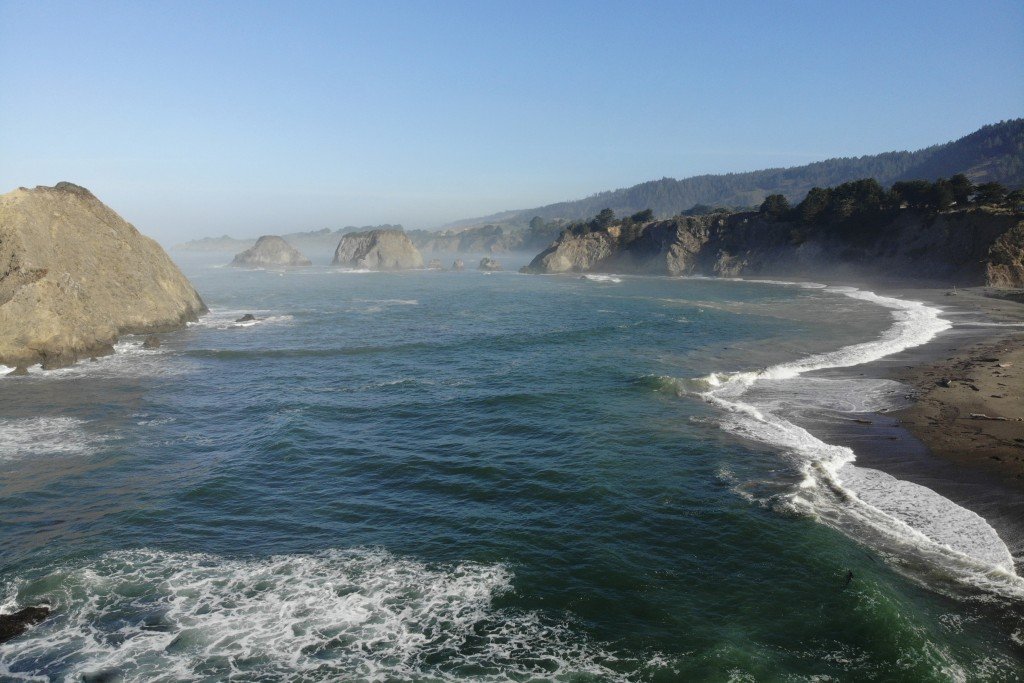 This Sept. 26, 2019 photo shows coastal waters off Greenwood State Beach where The Nature Conservancy is mapping and monitoring one of Mendocino Count...