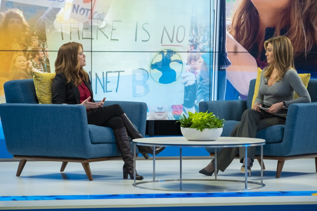 """This image released by Apple TV Plus shows Reese Witherspoon, left, and Jennifer Aniston in a scene from """"The Morning Show,"""" debuting Nov. 1, launchin..."""