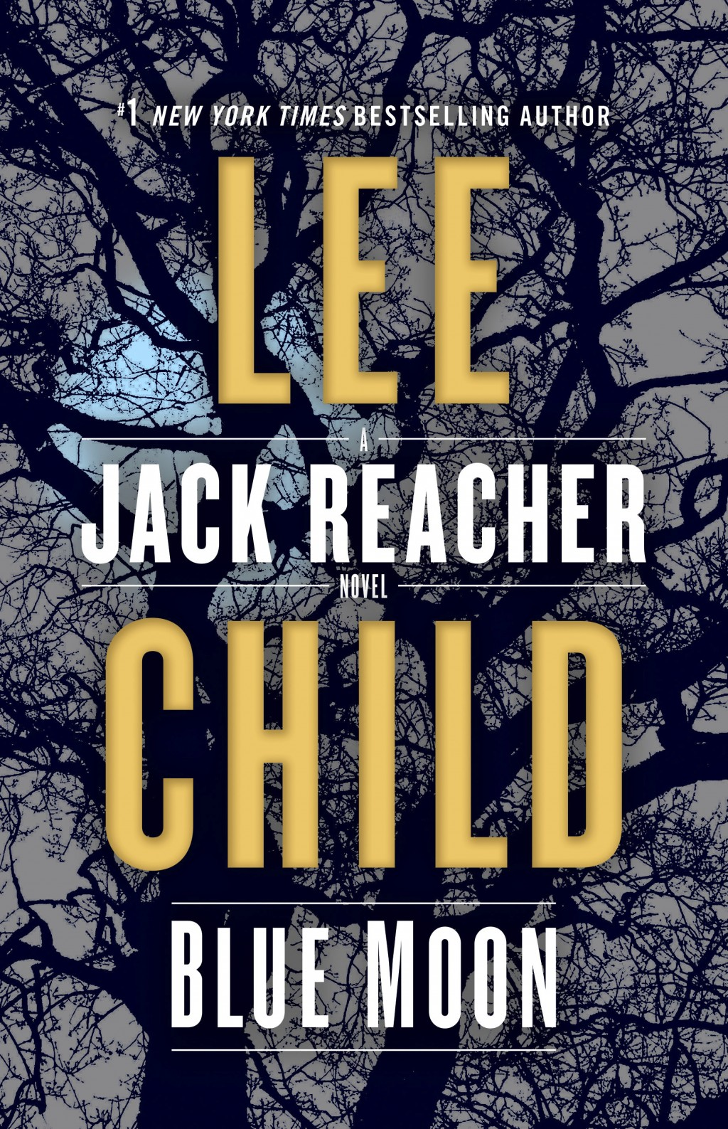 "This cover image released by Delacorte Press shows ""Blue Moon,"" a Jack Reacher novel by Lee Child. (Delacorte via AP)"
