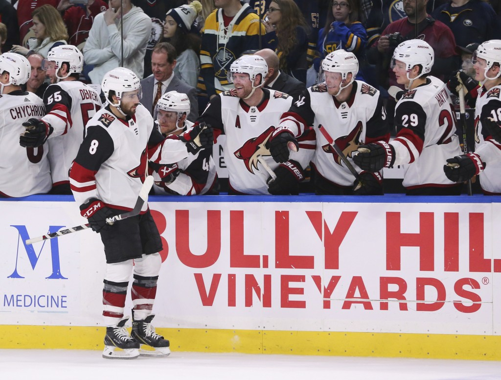 Schmaltz helps Coyotes beat Sabres in shootout
