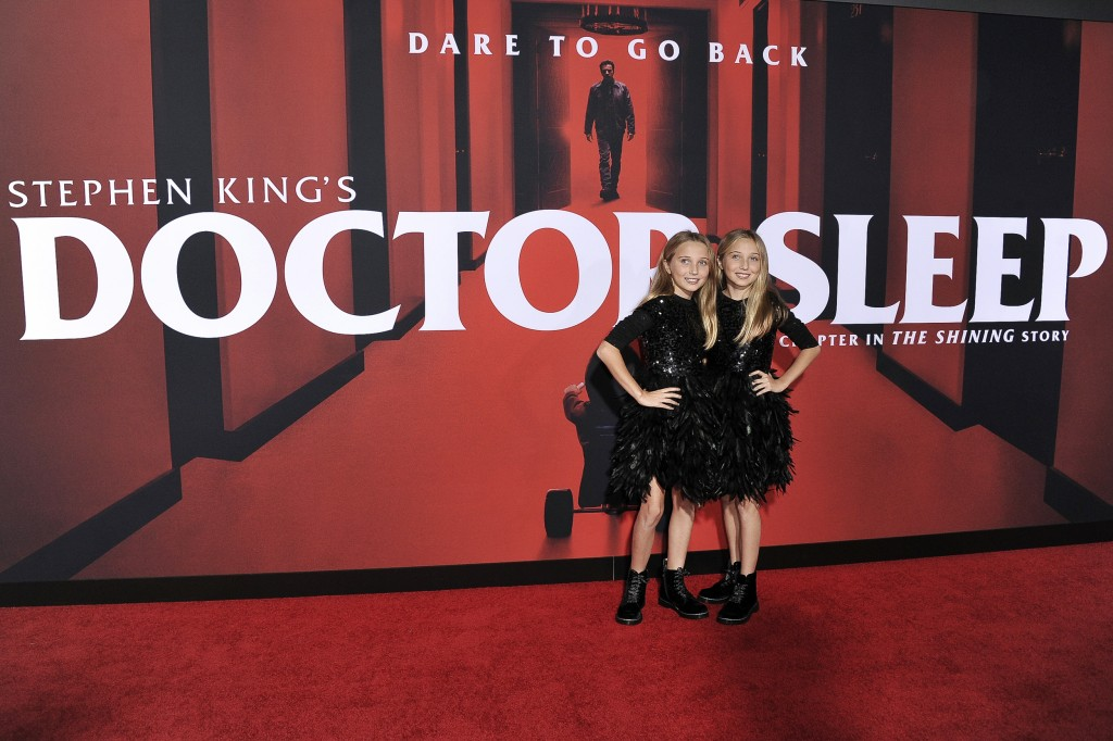 """Kk Heim, left, and Sadie Heim attend the LA premiere of """"Doctor Sleep"""" at the Regency Theatre Westwood on Tuesday, Oct. 29, 2019, in Los Angeles. (Pho..."""