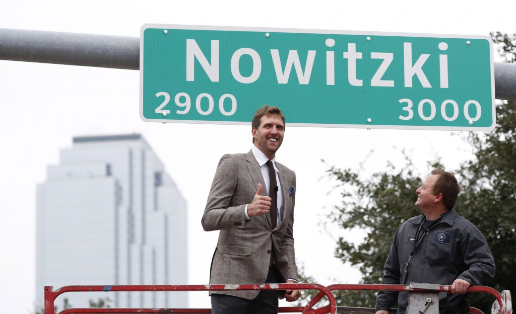 Dallas street renamed after legendary Nowitzki