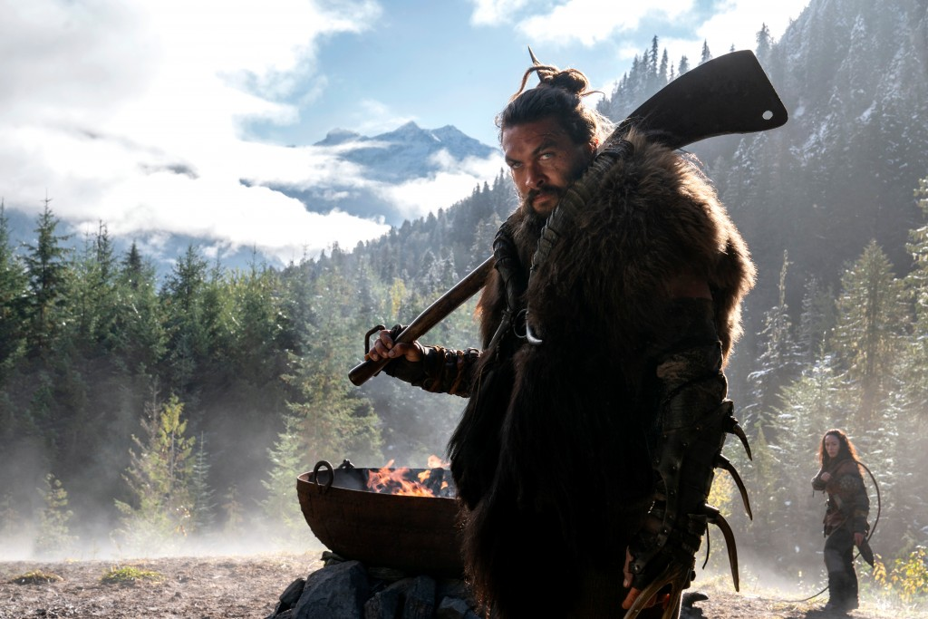 "This image released by Apple TV Plus shows Jason Momoa in a scene from ""See,"" premiering Friday, Nov. 1, 2019, on Apple TV Plus. (Apple TV Plus via AP..."