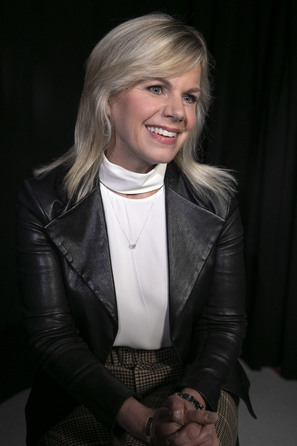 This Oct. 31, 2019 photo shows former Fox News personality Gretchen Carlson during an interview in New York. Carlson received a reported $20 million s...