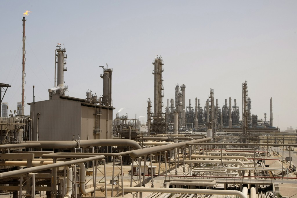 FILE - This May. 3, 2009 file photo shows an oil facility in Jubeil, about 600 kilometers (370 miles) from Riyadh, Saudi Arabia.  Saudi Arabia formall...