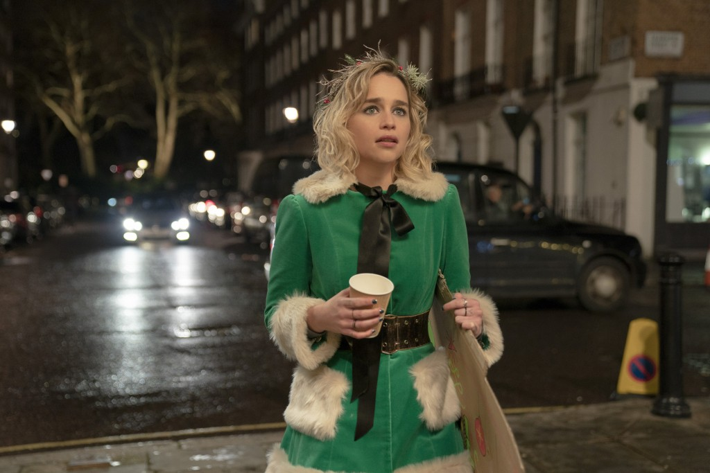 """This image released by Universal Pictures shows Emilia Clarke in a scene from """"Last Christmas."""" (Jonathan Prime/Universal Pictures via AP)"""