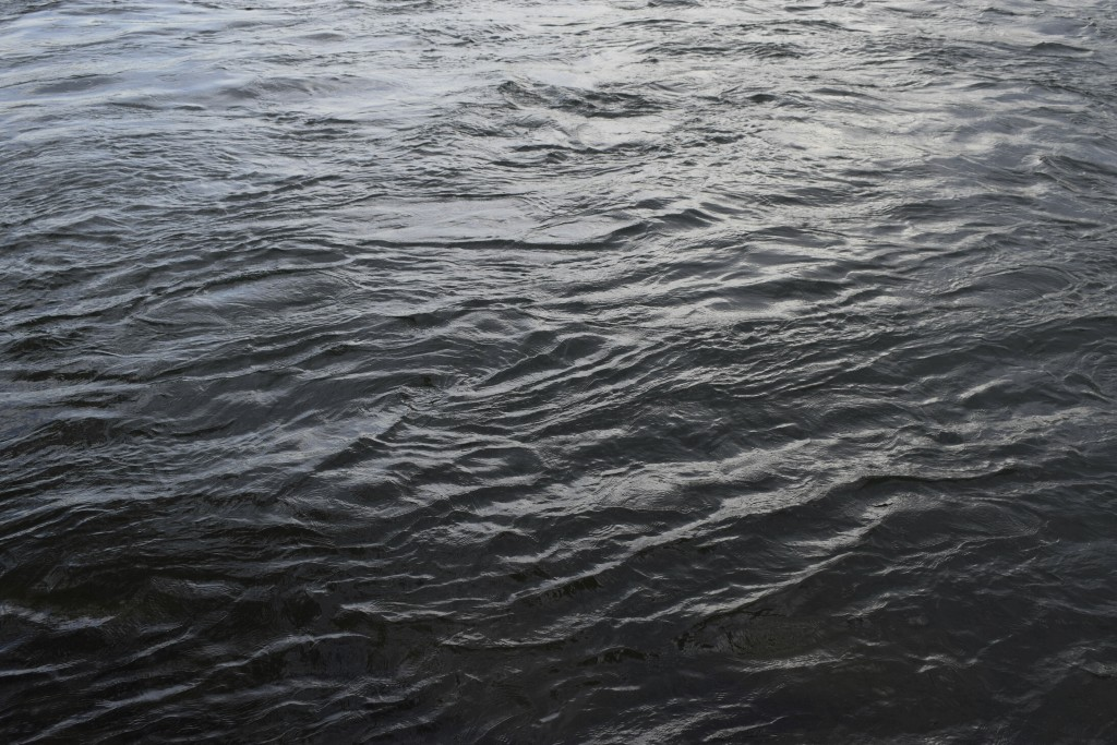 This June 22, 2019 photo shows ripples on the St. Lawrence River which supplies water to both of Montreal, Quebec, Canada's, two water treatment plant...