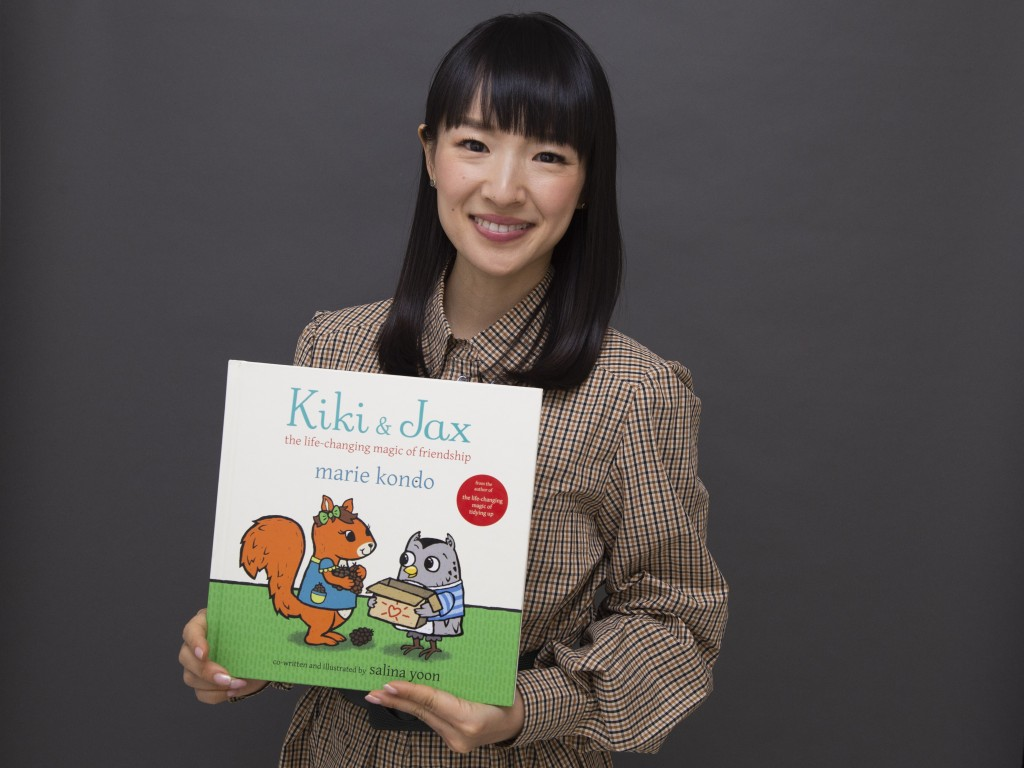 """Author and television personality Marie Kondo poses for a portrait to promote her children's book """"Kiki & Jax: The Life-Changing Magic of Friendship"""" ..."""