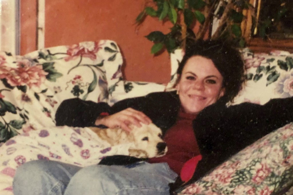 This photo provided by Lana Rivera from 1999, shows Melanie Billhartz at her mother's house in El Paso Texas. Authorities say Billhartz was strangled ...