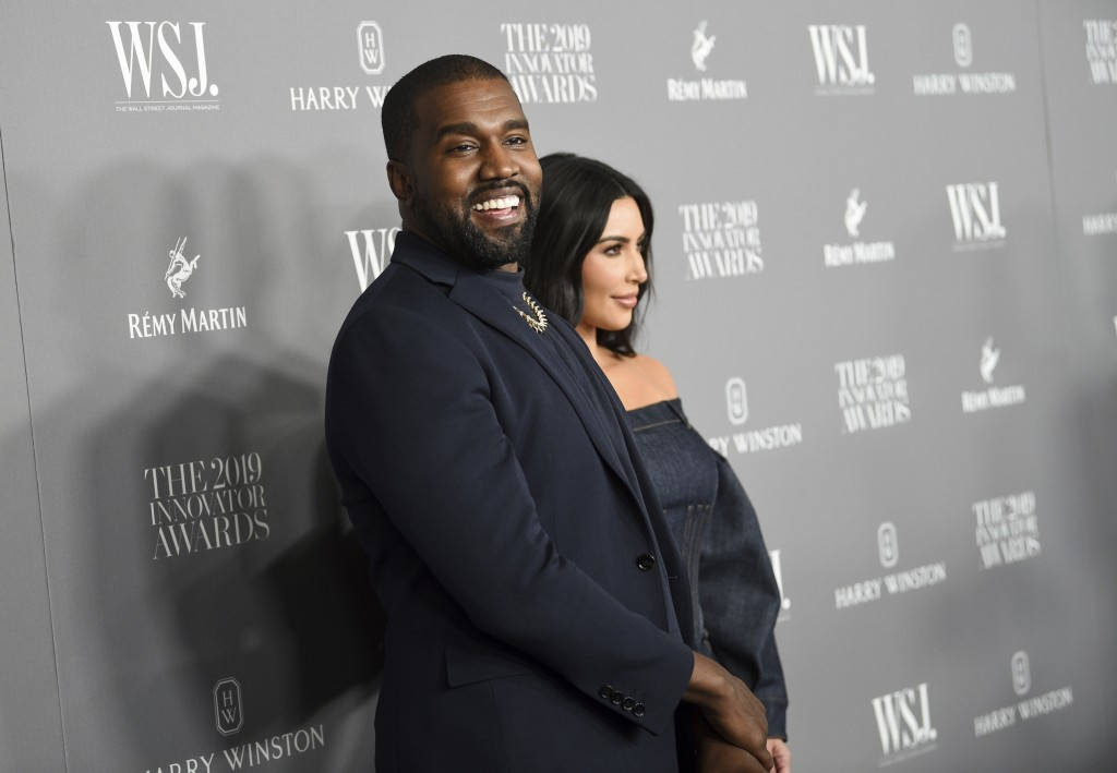 Kanye West, left, and wife Kim Kardashian West attend the WSJ. Magazine 2019 Innovator Awards at the Museum of Modern Art on Wednesday, Nov. 6, 2019, ...