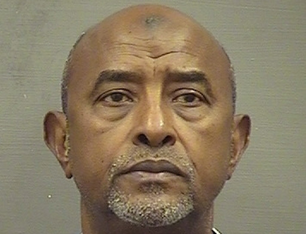 FILE - This Saturday, May 4, 2019, file booking photo provided by the Alexandria, Va. Sheriff's Office shows Abdirizak Jaji Raghe Wehelie, of Burke, V...