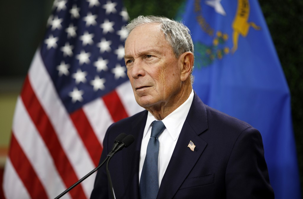 FILE - In this Feb. 26, 2019, file photo, former New York City Mayor Michael Bloomberg speaks at a news conference at a gun control advocacy event in ...