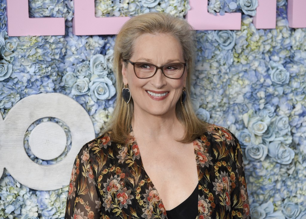 "FILE - This May 29, 2019 file photo shows actress Meryl Streep at the premiere of HBO's ""Big Little Lies"" season two in New York.  Streep has been nam..."