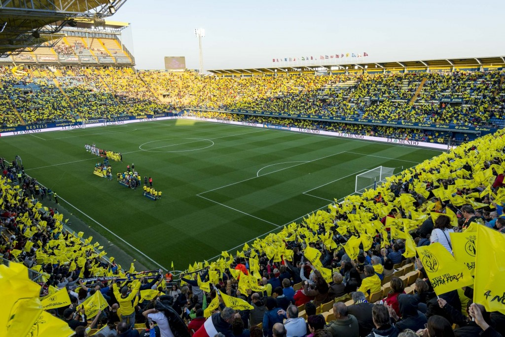 In this handout photo released by Villarreal F.C on Sunday, March 17, 2019, La Ceramica Stadium, home to Villarreal soccer club is seen in Villareal, ...