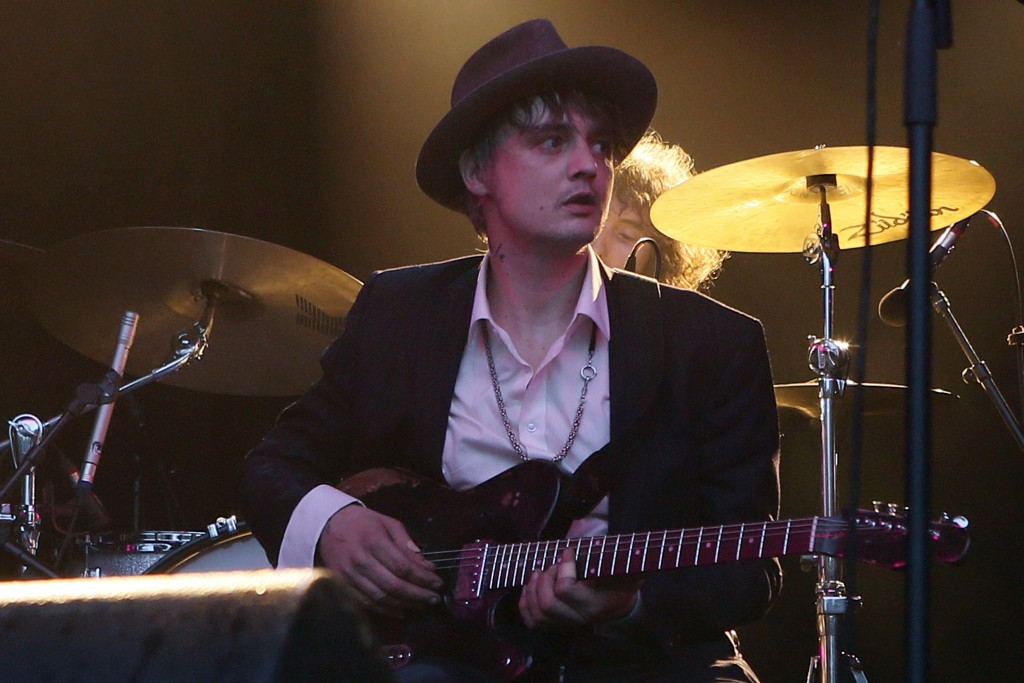 FILE - In this May 4, 2017 file photo, British musician Pete Doherty performs on stage during a concert in Paris. Paris authorities say British singer...