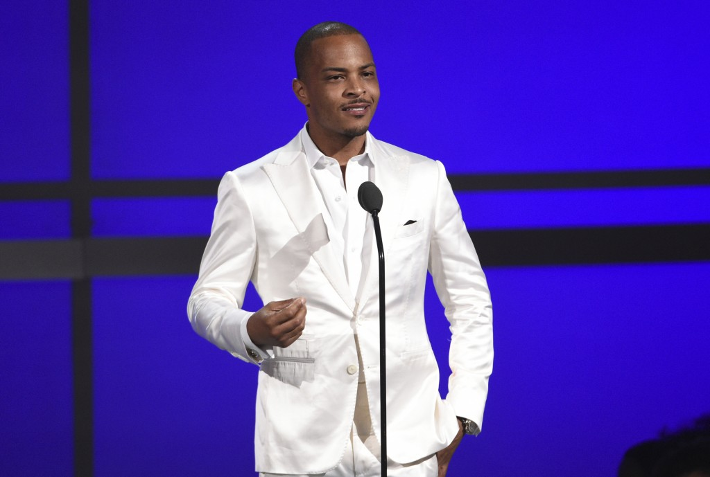 "FILE - This June 23, 2019 file photo shows Tip ""T.I."" Harris at the BET Awards in Los Angeles. Planned Parenthood and others on social media blasted T..."