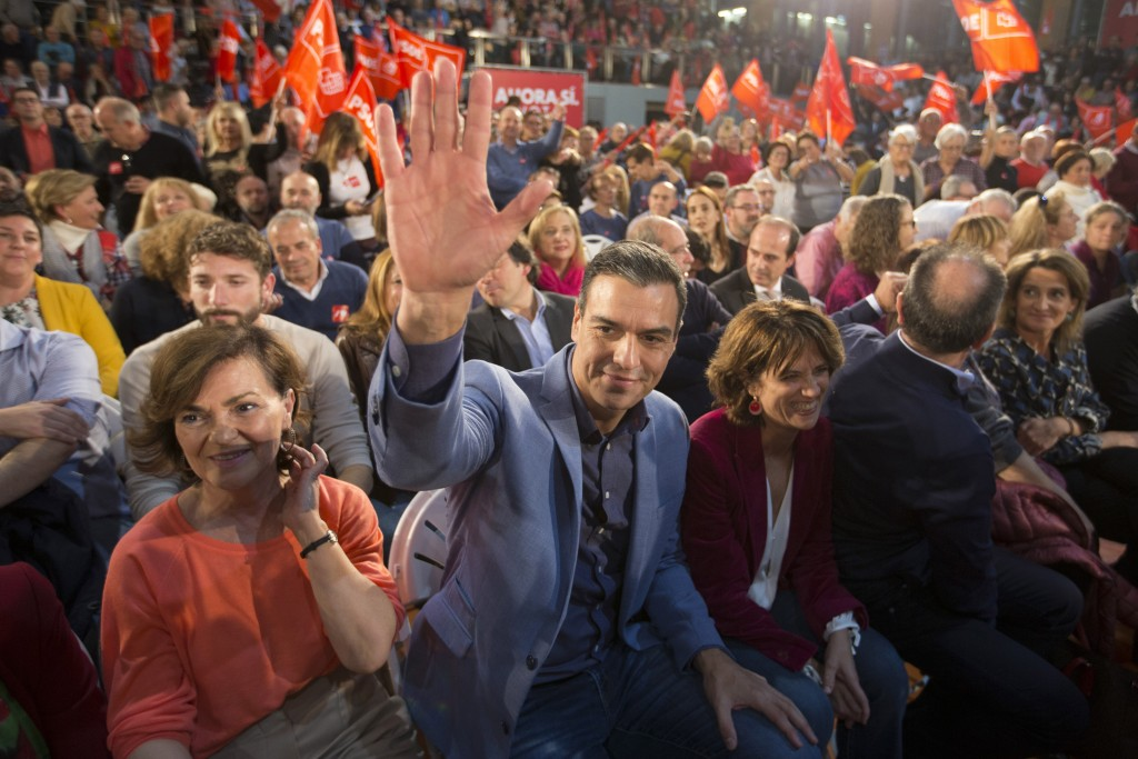Spain's caretaker Prime Minister and socialist can...