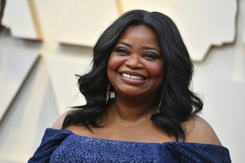 FILE - In this Feb. 24, 2019 file photo, Octavia Spencer arrives at the Oscars  at the Dolby Theatre in Los Angeles. The Producers Guild of America wi...