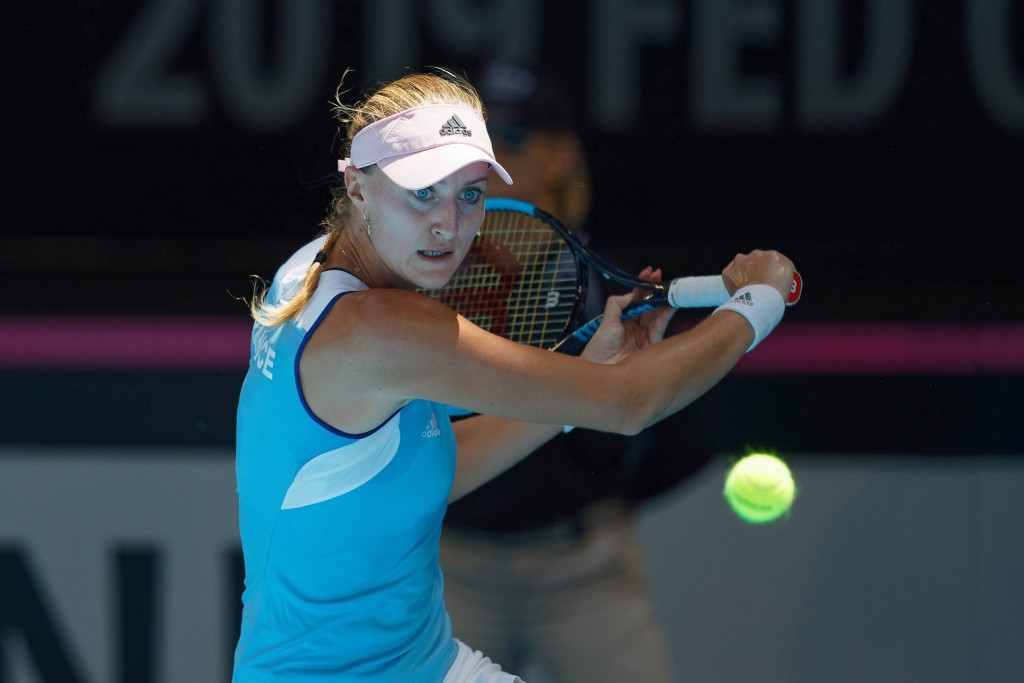 Fed Cup Final: Kristina Mladenovic puts France 1-0 ahead against Australia