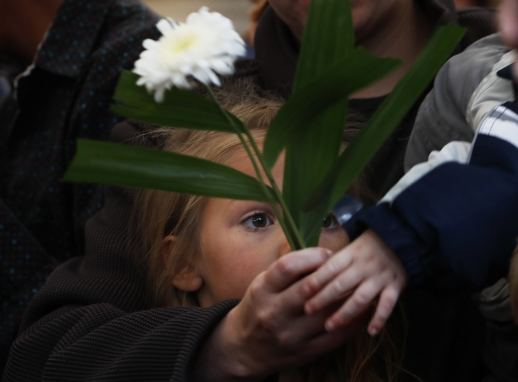 Family and friends attend a burial service for Rhonita Miller and four of her young children who were murdered by drug cartel gunmen, in Colonia Le Ba...