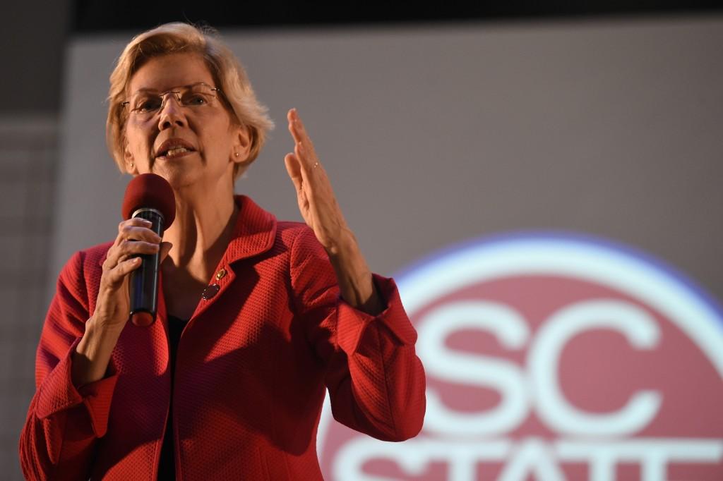FILE - In this Oct. 9, 2019, file photo, Democratic presidential candidate Sen. Elizabeth Warren speaks about the student loan debt relief legislative...