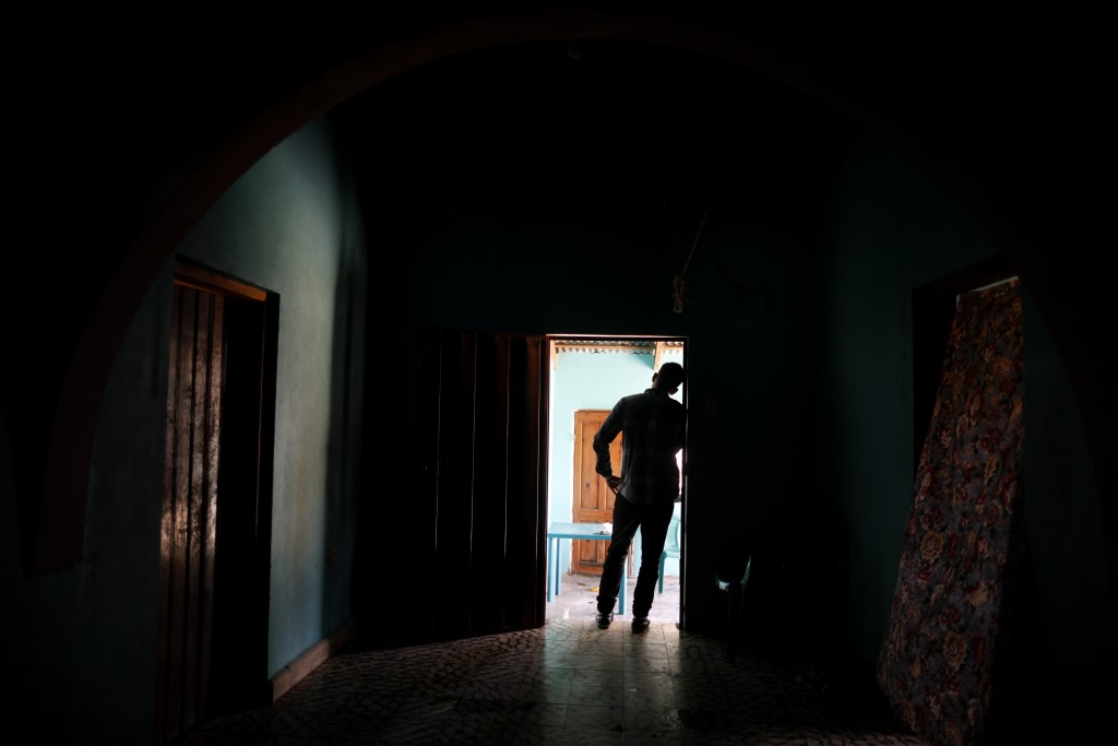 In this Aug. 23, 2019, photo, a Honduran father stands at his home in Comayagua, Honduras, after talking in an interview about being separated from hi...