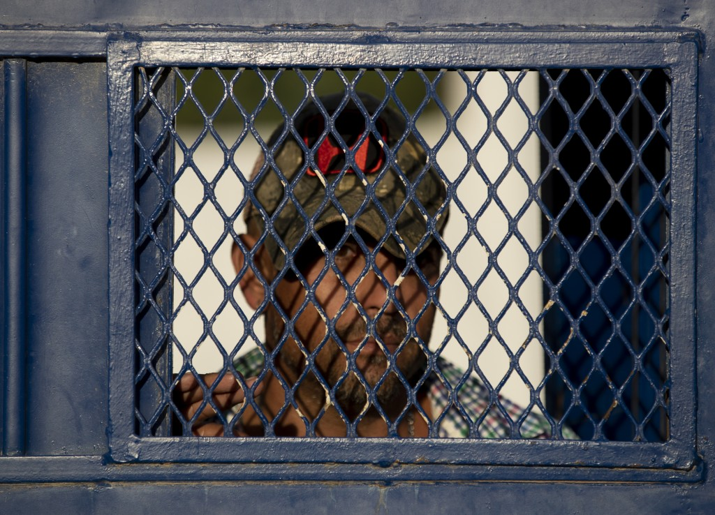 ADVANCE FOR USE SUNDAY, NOV. 17, 2019 AND THEREAFTER- In this Oct. 12, 2019 photo, a Cuban exits a migrant shelter in Reynosa, Mexico. In years past, ...
