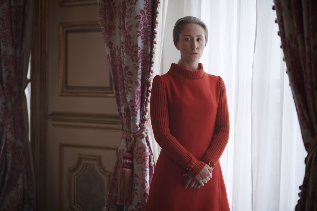 "In this image released by Netflix, Erin Doherty portrays Princess Anne in a scene from the third season of ""The Crown,""  debuting Sunday on Netflix. (..."