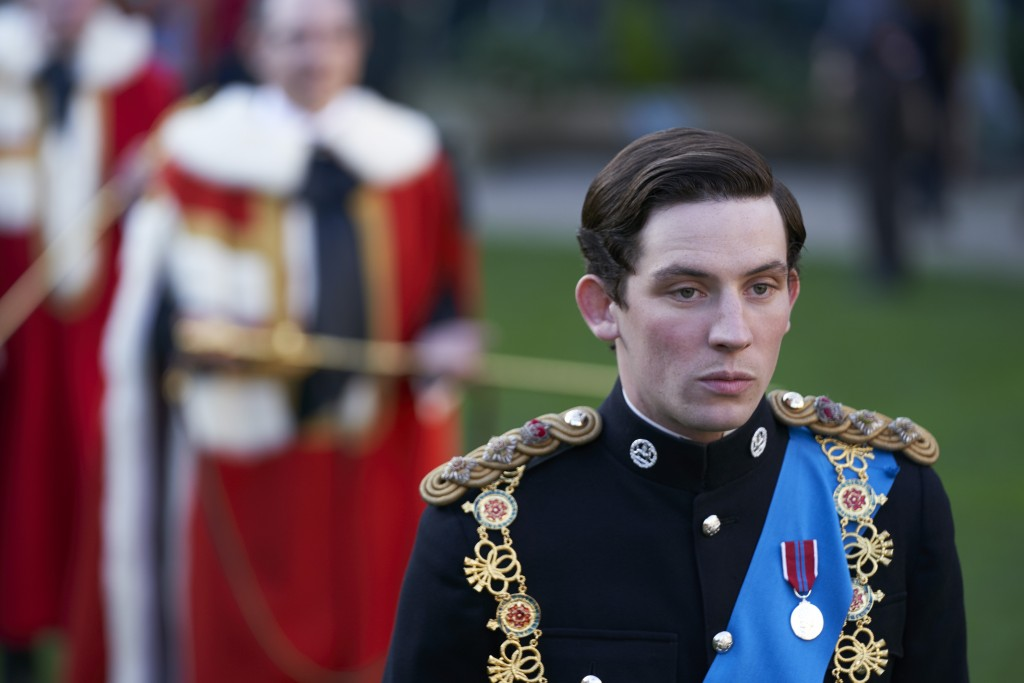 "In this image released by Netflix, Josh O'Connor portrays Prince Charles in a scene from the third season of ""The Crown,""  debuting Sunday on Netflix...."