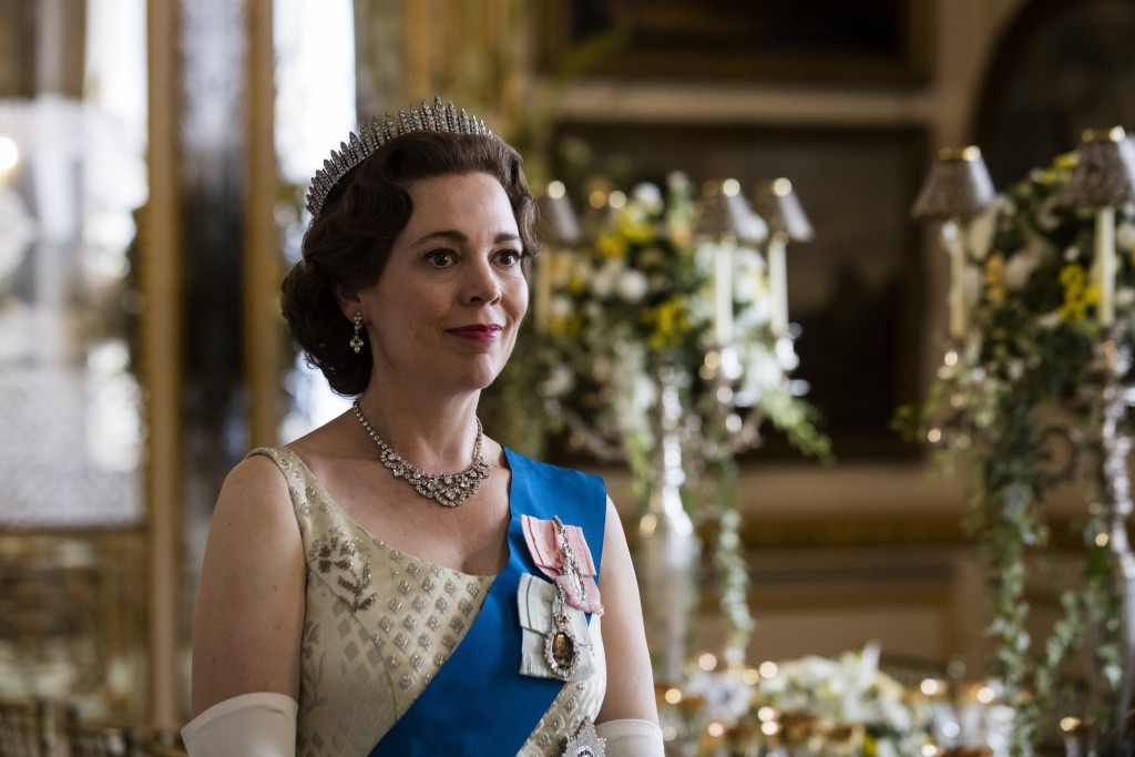 "In this image released by Netflix, Olivia Colman portrays Queen Elizabeth II in a scene from the third season of ""The Crown,""  debuting Sunday on Netf..."