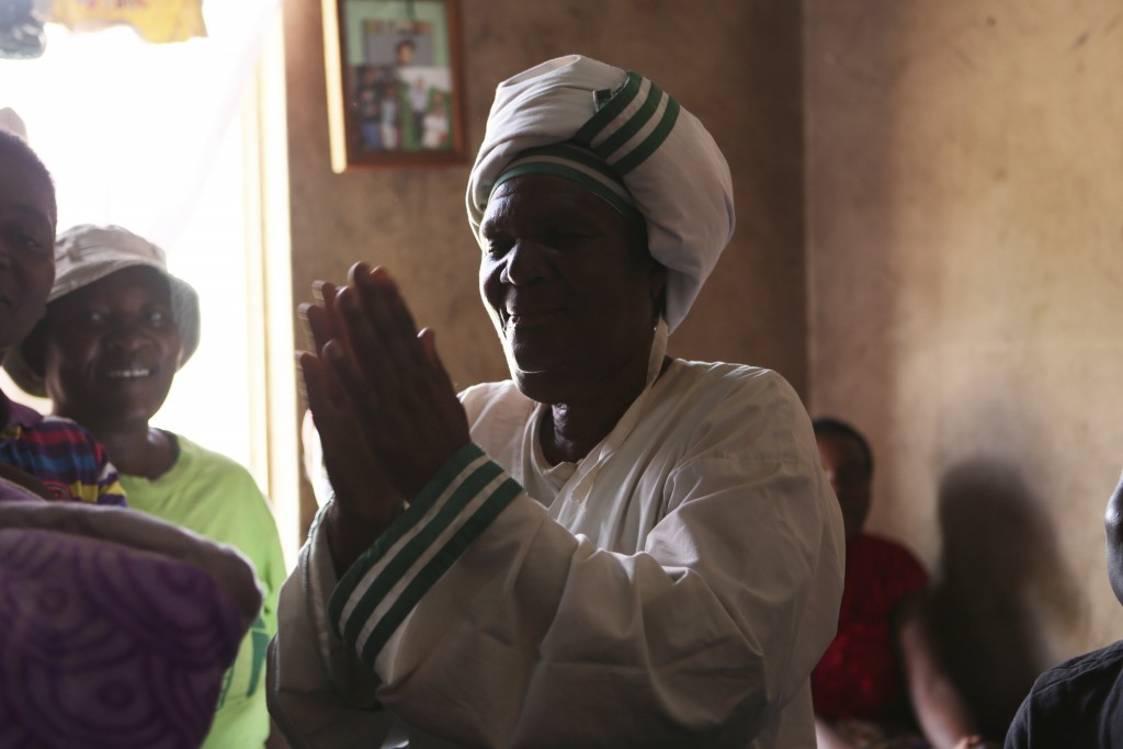 72-year old grandmother Esther Zinyoro Gwena is seen in her a tiny apartment in the poor surburb of Mbare in Harare, Zimbabwe in this Saturday, Nov. 1...