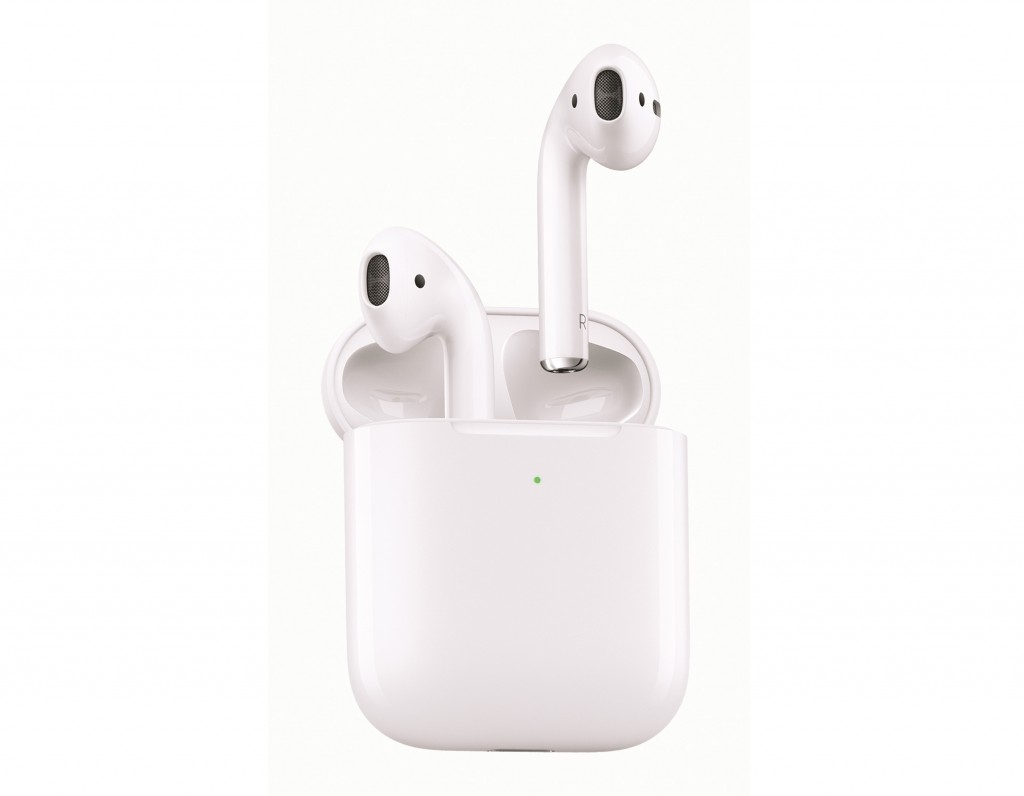 This image released by Apple shows a set of Apple AirPods, the perfect option for the TV binger on your gift list. (Apple via AP)