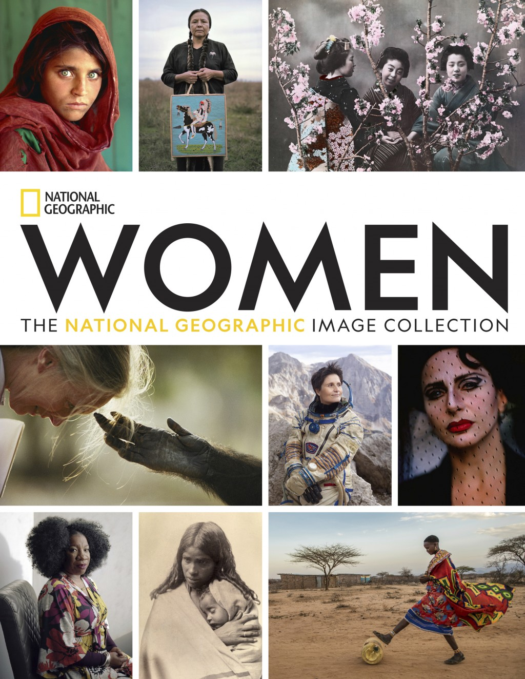 "This cover image released by National Geographic shows ""Women: The National Geographic Image Collection."" The book's 450 photographs span three centur..."