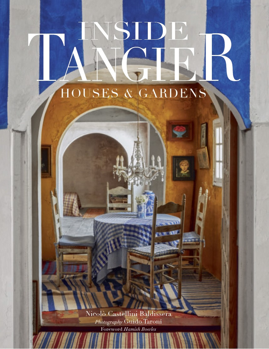 "This cover image released by Vendome shows ""Inside Tangier: Houses & Gardens,"" by Nicolo Castellini Baldissera, with photos by Guido Taron. Long a hav..."