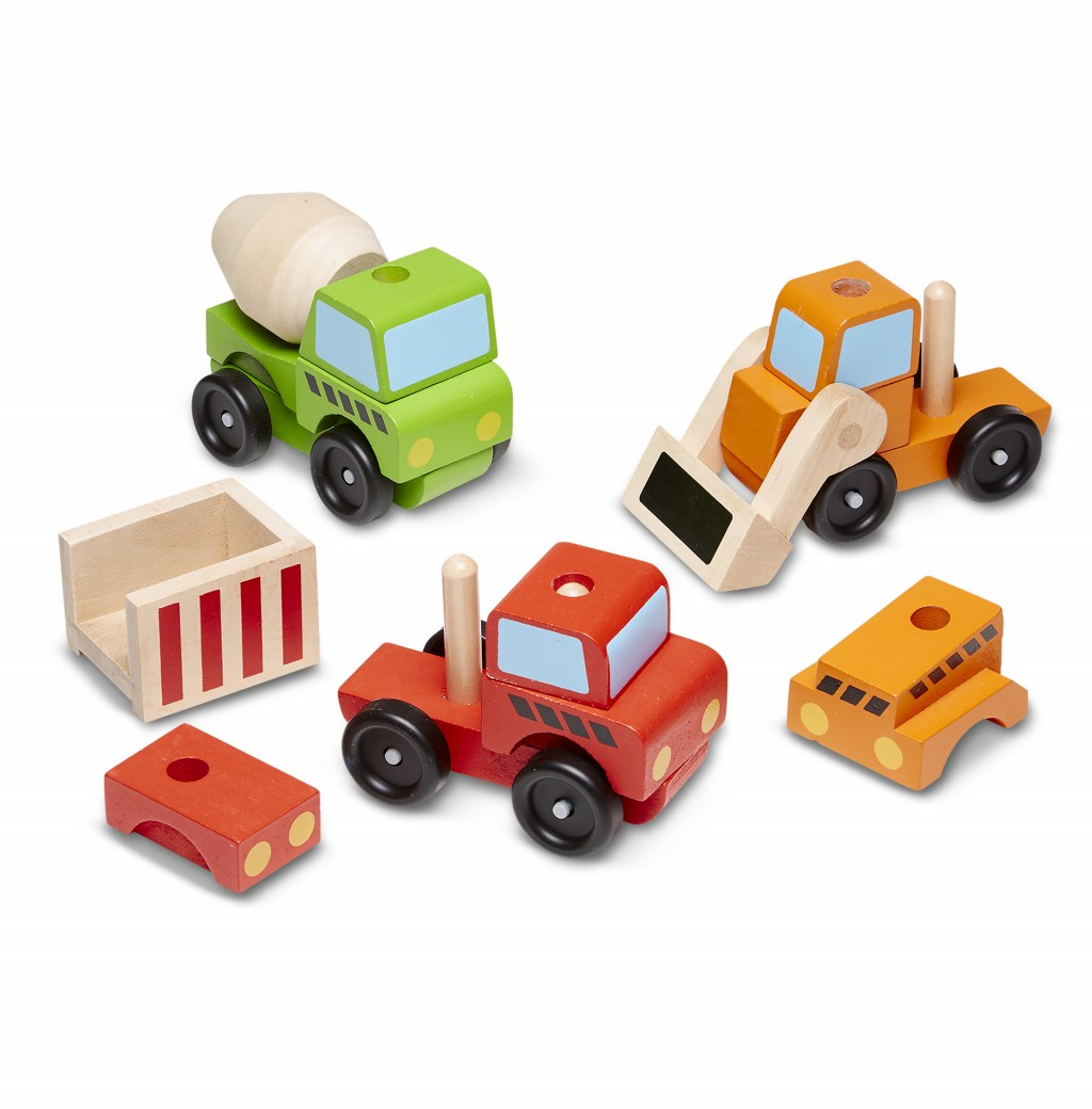 This photo released by Melissa & Doug shows stacking toy wood vehicles. Chances are good you know at least one parent who sings the praises of wooden ...