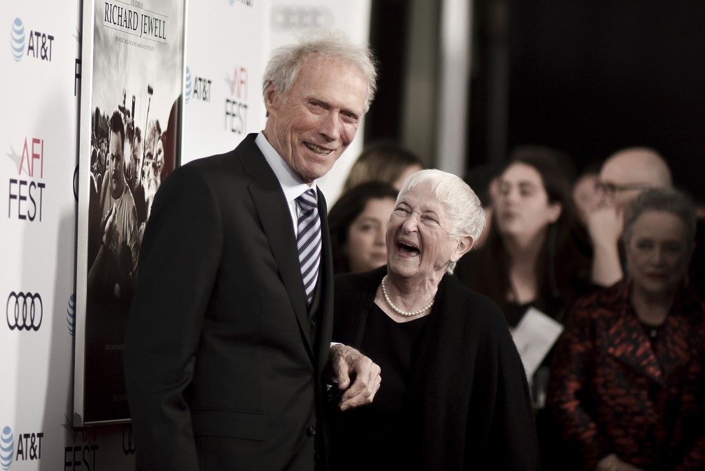 "Clint Eastwood, left, and Barbara Jewell attend 2019 AFI Fest - ""Richard Jewell"" at the TCL Chinese Theatre on Wednesday, Nov. 20, 2019, in Los Angele..."