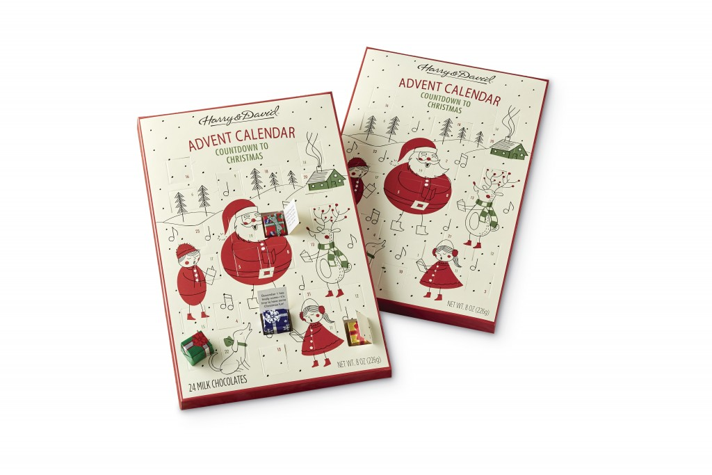 This photo shows the Harry & David Chocolate Advent Calendar Duo. From edibles to beauty, Advent calendars counting down to Christmas have exploded wi...