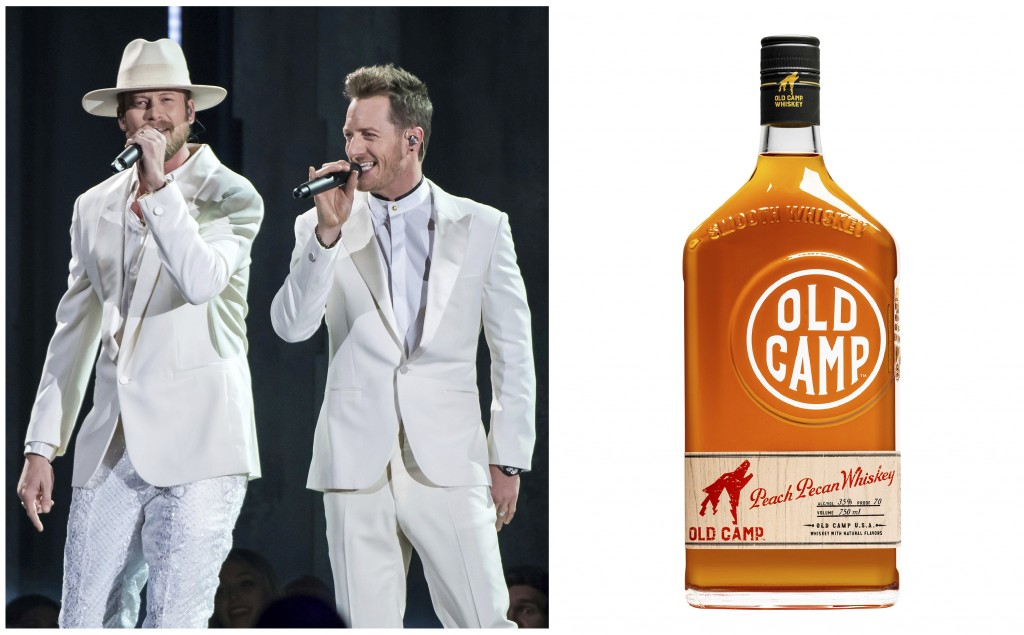 This combination photo shows Brian Kelley, left, and Tyler Hubbard of Florida Georgia Line performing at the 52nd annual CMA Awards in Nashville, Tenn...