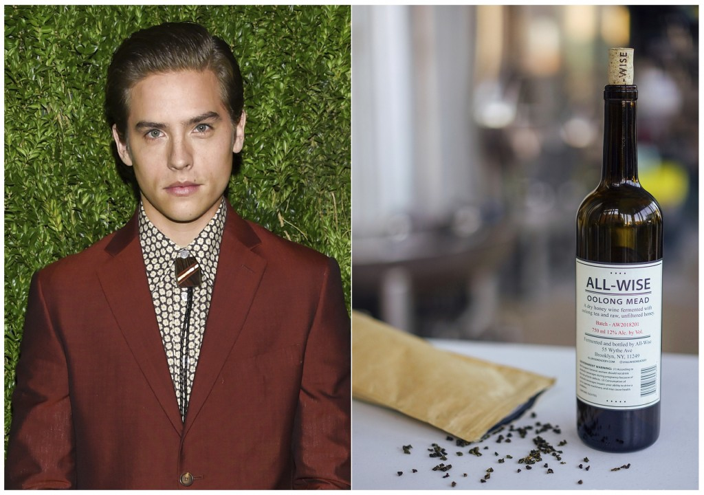 This combination photo shows actor and entrepreneur Dylan Sprouse at the 15th annual CFDA / Vogue Fashion Fund event at  in New York on Nov. 5, 2018, ...