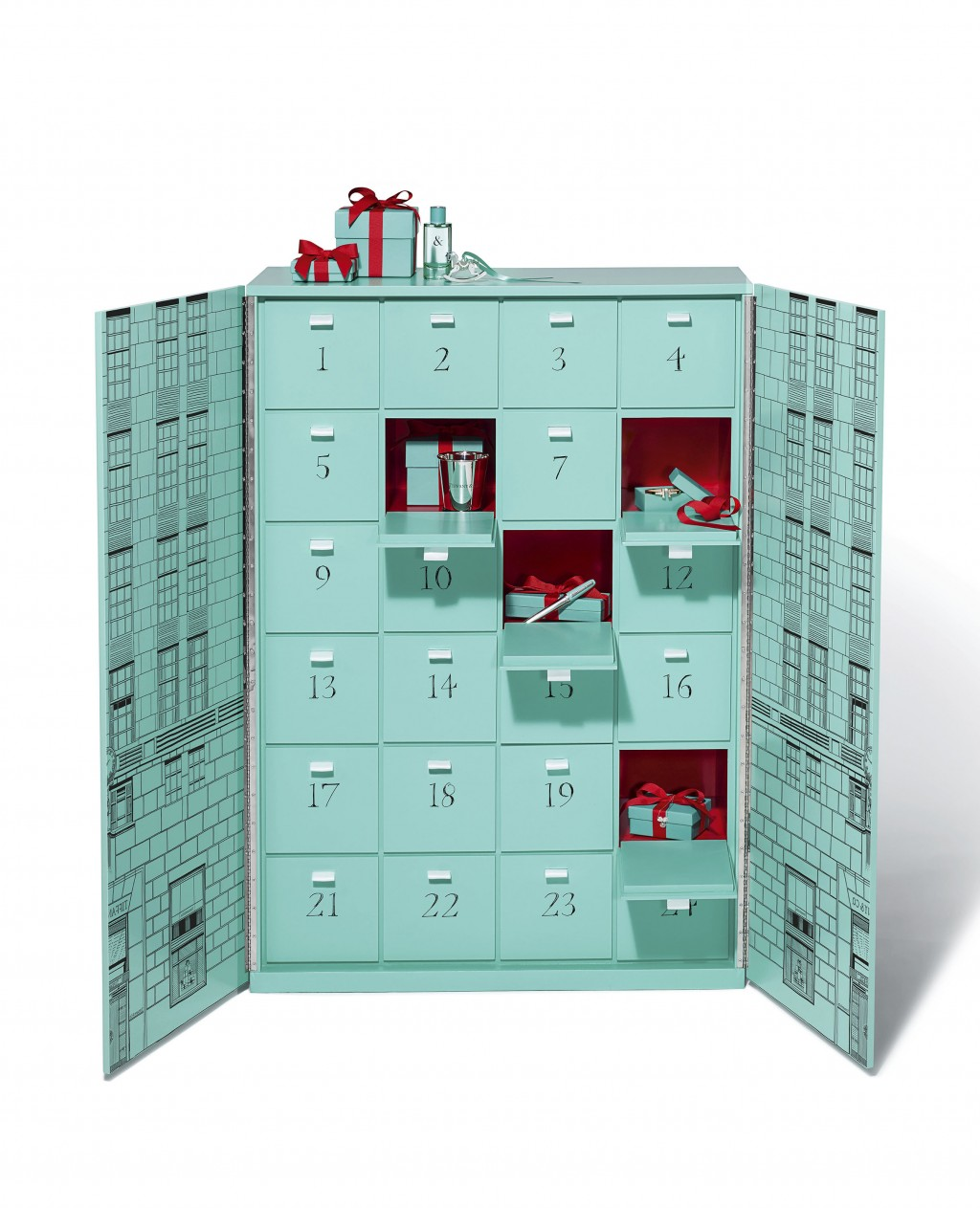 This photo shows the Tiffany & Co. Ultimate Advent Calendar. From edibles to beauty, Advent calendars counting down to Christmas have exploded with un...