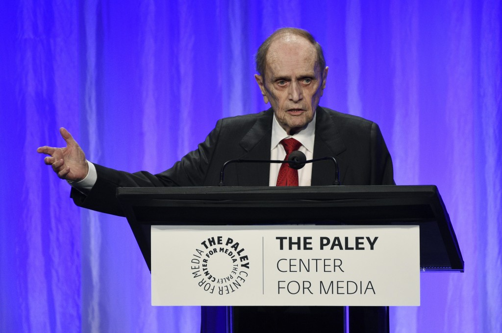 "Honoree Bob Newhart addresses the audience at ""The Paley Honors: A Special Tribute to Television's Comedy Legends"" at the Beverly Wilshire Hotel, Thur..."