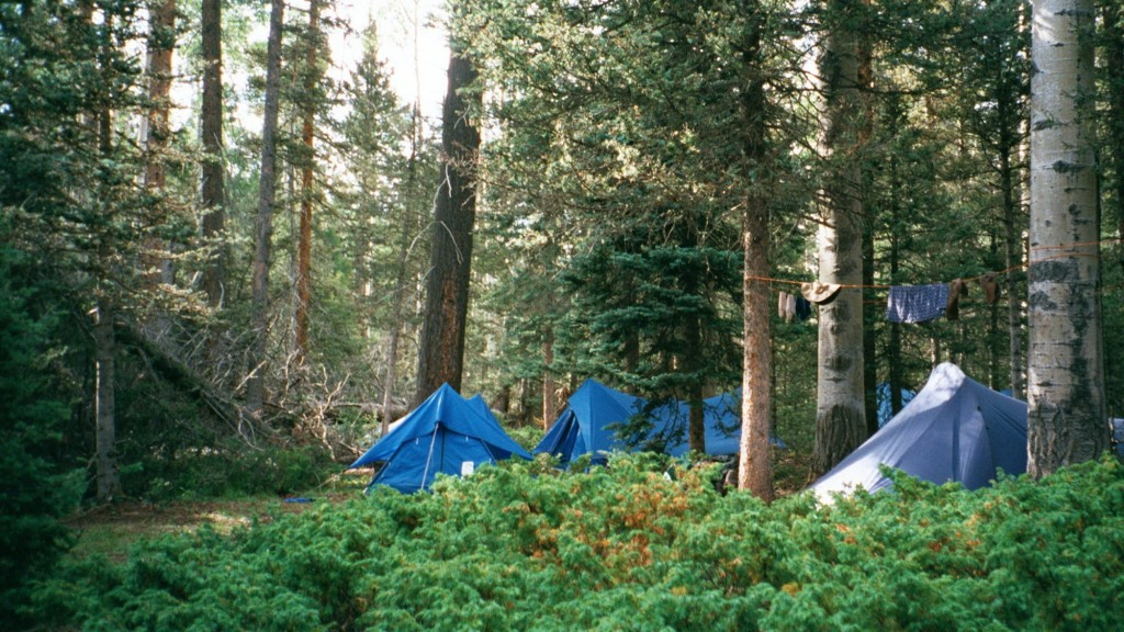 FILE - In this July 2001 file photo, a campsite setup off the trail to the summit of the second highest peak in Philmont Scout Ranch, N.M., is shown. ...