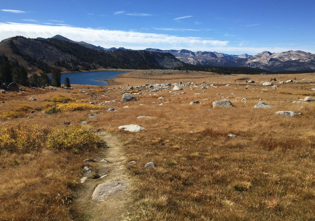 This Sept. 30, 2018 photo shows the trail for Gaylor Lakes on the far eastern side of Yosemite National Park. The trail offers a more peaceful hike th...