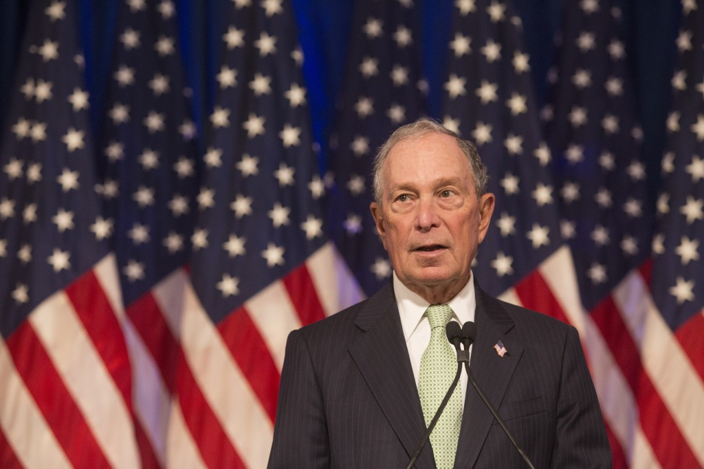 Democratic Presidential candidate, Michael Bloomberg during remarks to the media at the Hilton Hotel on his first campaign stop in Norfolk, Va. Monday...