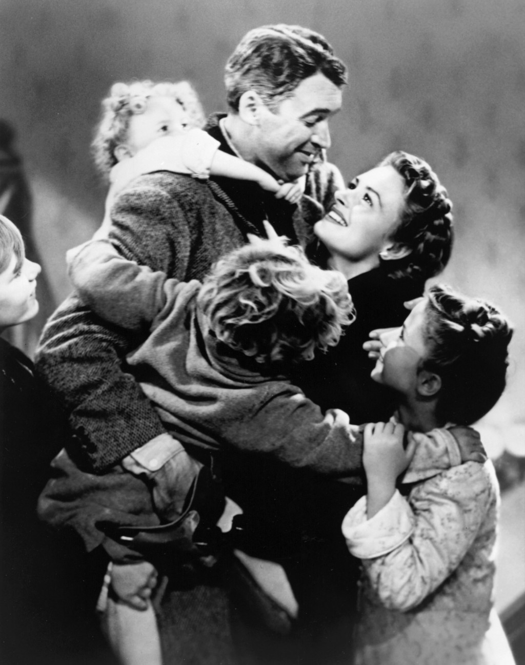 """This image released by NBC shows James Stewart and Donna Reed from the holiday classic """"It's a Wonderful Life,"""" airing Saturday, Nov. 30 and again on ..."""