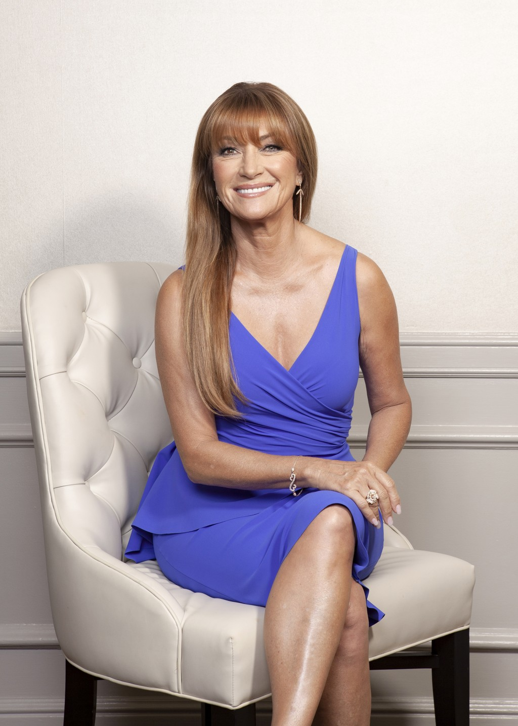 """This Oct. 6, 2019 photo shows actress Jane Seymour posing at The Four Seasons Hotel in Los Angeles to promote her role in """"The Kominsky Method."""" (Phot..."""