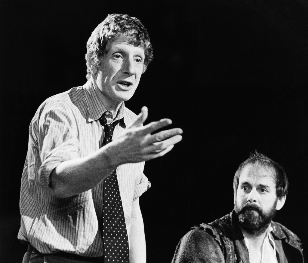"""FILE - In this Dec. 12, 1980 file photo, Jonathan Miller, left, directs Shakespeare's """"Taming Of The Shrew"""" with actor John Cleese, right. The family ..."""