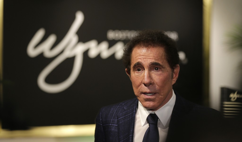 FILE - In this March 15, 2018 file photo, casino mogul Steve Wynn is seen during a news conference in Medford, Mass. Wynn Resorts has agreed to accept...