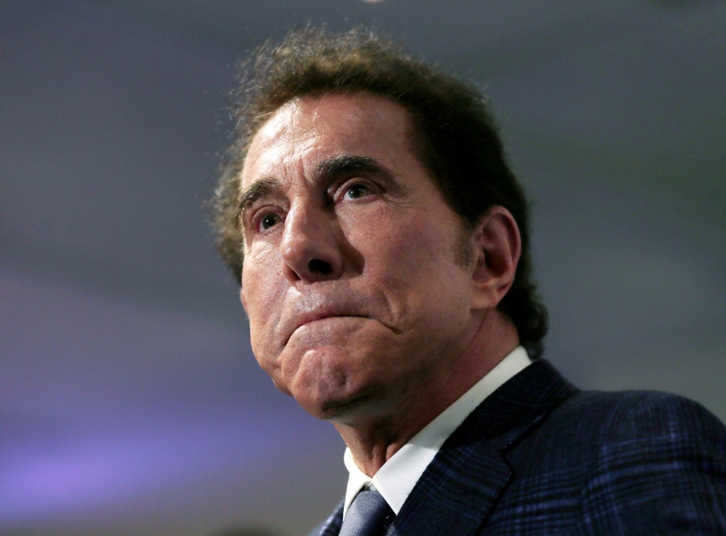 FILE - This March 15, 2016, file photo, shows casino mogul Steve Wynn at a news conference in Medford, Mass. Wynn Resorts has agreed to accept $41 mil...